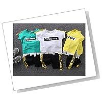 yukinko(ゆきんこ) キッズ ボーイズ Tシャツ & パンツ セット 英字 ロゴ入り かっこいい 夏 スポーツ アウトドア 男の子