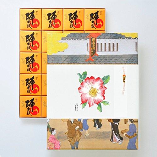 お菓子の香梅 誉の陣太鼓20個入 肥後六花のし紙 【肥後山茶花】 スイーツ 1570g