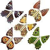 lacyie美しい魔法のマジックバタフライ 金属ブラケットの蝶のおもちゃの飛行 エキゾチックな魔法の小道具のおもちゃ 子供用 知育玩具 約11 cm 12 cm