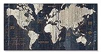 ポスター アーティスト不明 Old World Map Blue