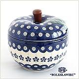 [Zaklady Ceramiczne Boleslawiec/ザクワディ ボレスワヴィエツ陶器]リンゴのポット12.5cm-166 ポーリッシュポタリー