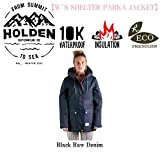 15-16 HOLDEN ウェア ホールデン スノーボードウェア SHELTER PARKA JACKET シェルター パーカー ジャケット レディース DENIM (Black_Raw_Denim, S)