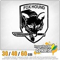 Fox Hound - 3つのサイズで利用できます 15色 - ネオン+クロム! ステッカービニールオートバイ