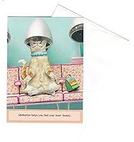 ポータル アニマル グリーティングカード 封筒付き Maude-Meditation (誕生祝い) BD4699