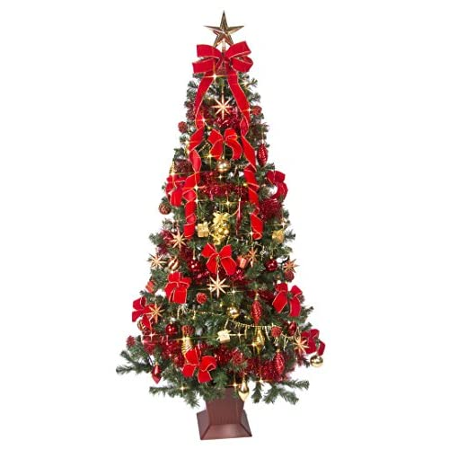 クリスマスツリー セット 180cm サンセットレッド ツリーセット