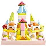 木製 積み木 天然木 ブロック 人気 おもちゃ 知育玩具 カラフル つみき 幾何学認知 バ……