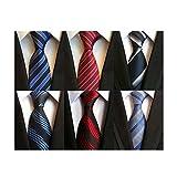 LOLONG ネクタイ6本セット ビジネス 紳士用 洗濯可能
