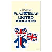 ムーングラフィックス ステッカー 国旗 クマ イギリス L FBL02