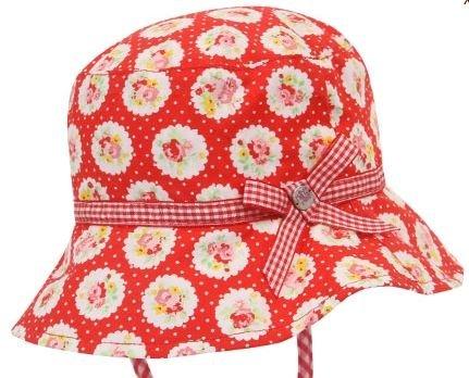 帽子 女の子 ハット ロージー リバーシブル 綿100% UPF50 紫外線対策 50 51