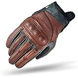 SHIMA Caliber Mens Vintage Leather Motorcycle Gloves - Brown/Medium