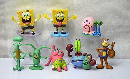 스펀지 밥 피규어 8 Pcs SpongeBob Squarepants Model PVC figure [병행수입품]-q1