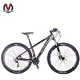 SAVADECK DECK300 マウンテンバイク 炭素繊維 29インチ 完全なハードテール MTB自転車シマノ30段変速 M610 DEORE (グレー)