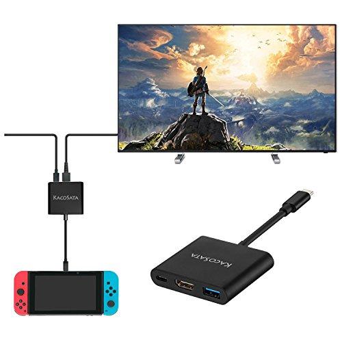 ニンテンドースイッチ ドック Type-C アダプター Nintendo Switch Dock代替品コンバーター ドック代わり HDMI変換アダプター TVモード用 持ち運び便利