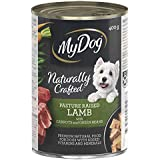 MY DOG Naturally Crafted Wet Dog Food Lamb 400g Can, 24 Pack, One Size