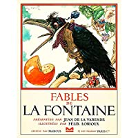 VINTAGE BOOK COVER FABLES DE LA FONTAINE CROW WAISTCOAT NEW FINE ART PRINT POSTER PICTURE 30x40 CMS ビンテージ本カバーアートプリントポスター画像
