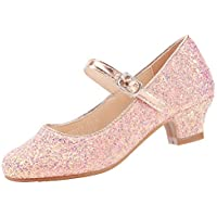 EIGHT KM EKM7015 Girls Mary Jane Low Heel Cinderella Court Shoes
