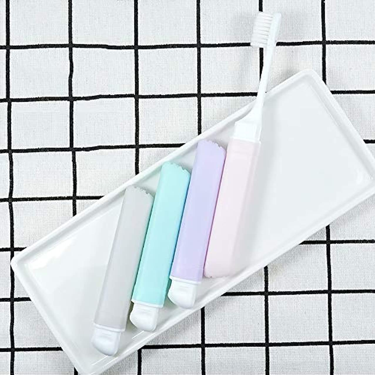 クアッガマッシュ丘歯ブラシ 10柔らかい歯ブラシ、携帯用歯ブラシ、折り畳み式の大人歯ブラシ - 10パック KHL (サイズ : 10 packs)