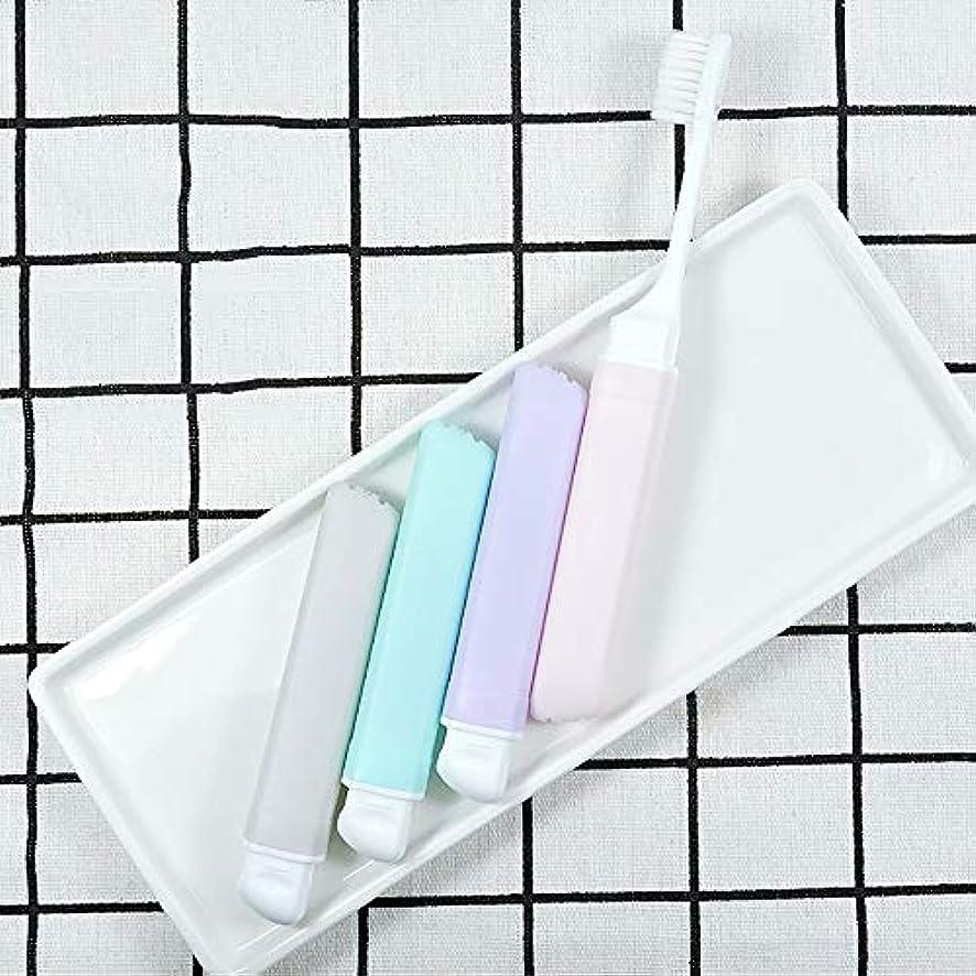 道徳ケージ怠けた歯ブラシ 10柔らかい歯ブラシ、携帯用歯ブラシ、折り畳み式の大人歯ブラシ - 10パック KHL (サイズ : 10 packs)