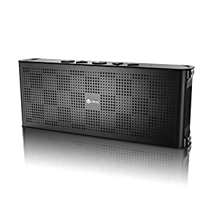 iClever ポータブル Bluetooth 4.0 スピーカー 薄型 10w 防水 IPX5 ワイヤレス ステレオ スピーカー デュアル 10時間連続再生 iPhone スマホ ( ブラック ) IC-BTS04