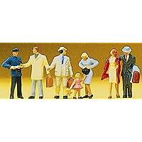 Passengers Departing at Gate (7) HO Scale Preiser Models by Preiser [並行輸入品]