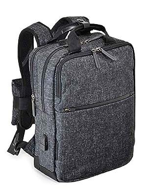 エンドー鞄 NEOPRO CONNECT ネオプロ コネクト ビジネス リュックサック バックパック USBポート 杢調クロ 2-770-GY