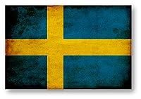国旗ステッカー(アンティークタイプ) スウェーデン Sサイズ 2枚組 再帰反射 耐水 SW(ア)S(2)