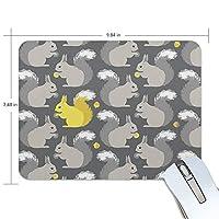 マウスパッド かわいい リス ゲーミングマウスパッド 滑り止め 19 X 25 厚い 耐久性に優れ おしゃれ