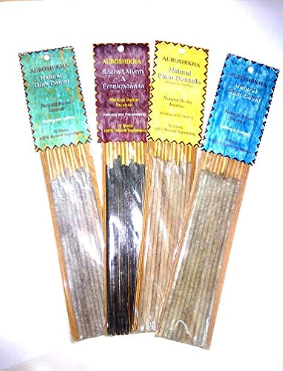 刈る韓国語罪人AUROSHIKA Resin Incense Sticks (Set of 4 PCS)