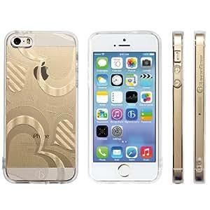 Highend berry iPhone SE 5s 5 ストラップ ホール 保護キャップ 一体型 ソフト TPU ケース ストラップ 付き ハート