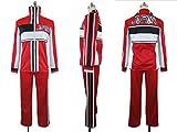 【ノーブランド品】654新テニスの王子様 U-17選抜 赤ジャージコスプレ衣装(女性XL)【ノーブランド品】