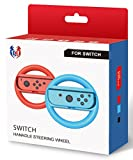GH Switch マリオカート 8 デラックス ハンドル Nintendo スイッチ ジョイコン (Joy-Con) コントローラー 専用 2個 セット(赤1+青1)