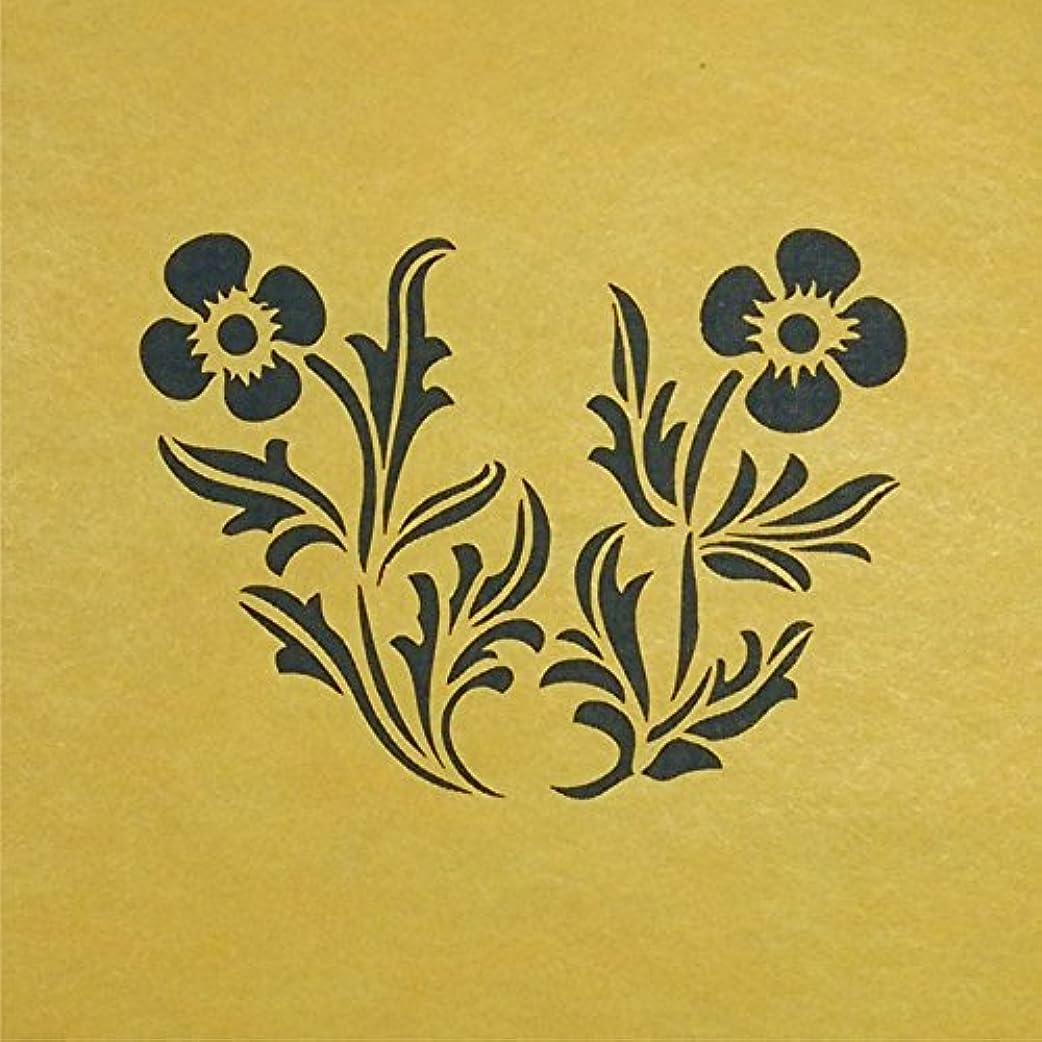 キャプテンブライシチリア秘書ステンシルシート 花ー8 3サイズ型紙  (10cm)