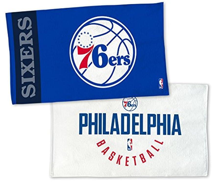 顕微鏡羽広がりWinCraft NBA Philadelphia 76ers on Courtタオル、NBAロッカールームAuthentic Edition 22 x 42インチ