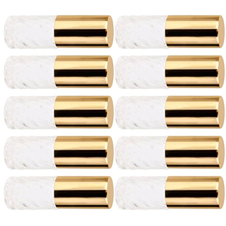 アレルギー性看板約10本セット 透明 交換 旅行 空 ロールオン ガラス 香水瓶 容器 男性 女性 5ml