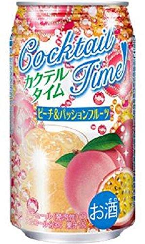 合同酒精 カクテルタイム ピーチ&パッションフルーツ 缶 350ml×24本