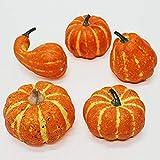 ハロウィン装飾 手のひらサイズかぼちゃ装飾 5個セット 24045