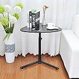 Soges コーヒーテーブル ティーテーブル 昇降式 カフェテーブル 木製ラウンジテーブル サイドテーブル ソファサイド キャスター付,クログルミ