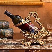 ヨーロッパ絵画工芸樹脂装飾ワインラックホームオーナメントワインキャビネット装飾ワインキャビネットワインボトルラック屋内リビングルームデスクトップディスプレイスタンド
