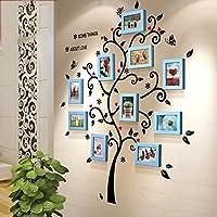 Xing コラージュフォトフレーム10フォトフレームの壁の粉/写真を変更して自由です - フォトフレームの組み合わせ (Color : 青)