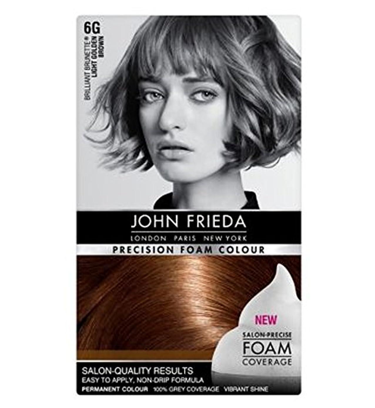 シロナガスクジラ優遇割れ目ジョン?フリーダ精密泡カラー6グラムライトゴールデンブラウン (John Frieda) (x2) - John Frieda Precision Foam Colour 6G Light Golden Brown (Pack of 2) [並行輸入品]