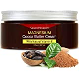Natural Magnesium Cream for Pain Calm, Leg Cramps, Sleep & Muscle Soreness. With Moisturizing Organic Cocoa Butter and Vitami
