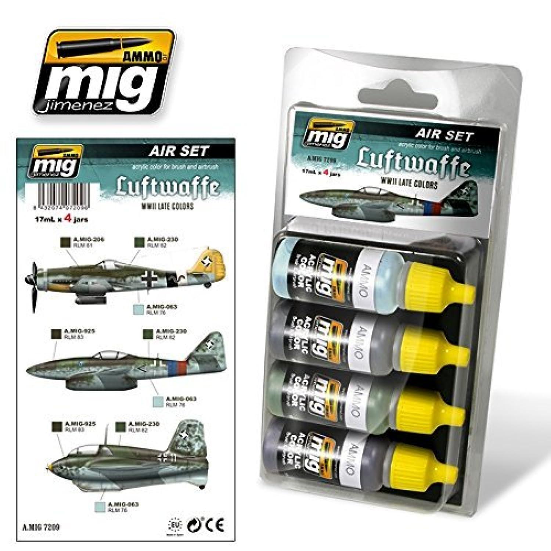 Migの弾薬ドイツ空軍WWII Late色4 Jars 17 ml。# 7209