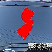 3s MOTORLINE New Jersey StateマップNJアウトライン車デカールステッカービニールPickサイズカラーno bkgrd 16'' (40.6cm) ブラック 201807027s7