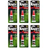 (6 Pack) - Krazy Glue KG92548R Instant Krazy Glue 5ml All Purpose Brush - Pack of 6