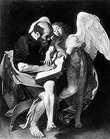 手書き-キャンバスの油絵 - 美術大学の先生直筆 - St Matthew and the Angel Caravaggio 絵画 洋画 複製画 ウォールアートデコレーション -サイズ14
