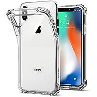 【Spigen】 スマホケース iPhone X ケース TPU 全面クリア 耐衝撃 米軍MIL規格取得 ラギッド・ クリスタル 057CS22117 (クリスタル・クリア)