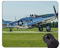 スリップ防止マウスパッドのマット、プロペラ飛行機の空気滑り止めのゴム製基礎マウスパッド