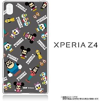 f205bdb3a7 Xperia Z4 (SO-03G SOV31 402SO) 専用 【Disney/ディズニー】 クリアケース  「MICKEY&FRIENDS(2カラー)」 ミッキー ミニー ドナルド グーフィ ケース カバー (グレー)