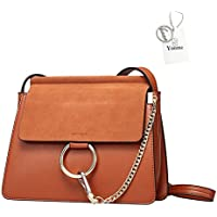 Yoome Women Genuine Leather Crossbody Shoulder Purse Chain Messenger Bag for Girls Split Fashion Clutch