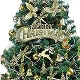 クリスマスツリー 装飾 1.5m 150cm 飾り セット LED 金 ゴールド